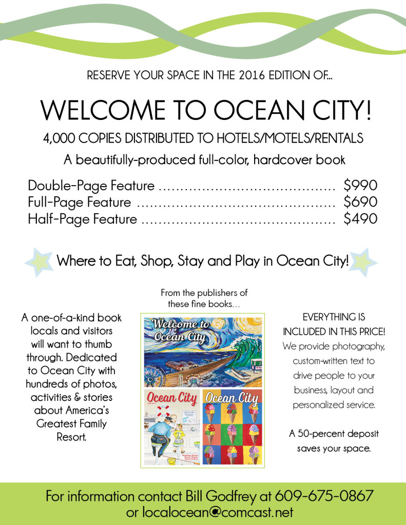 2016 Welcome to Ocean City Guidebook Rates